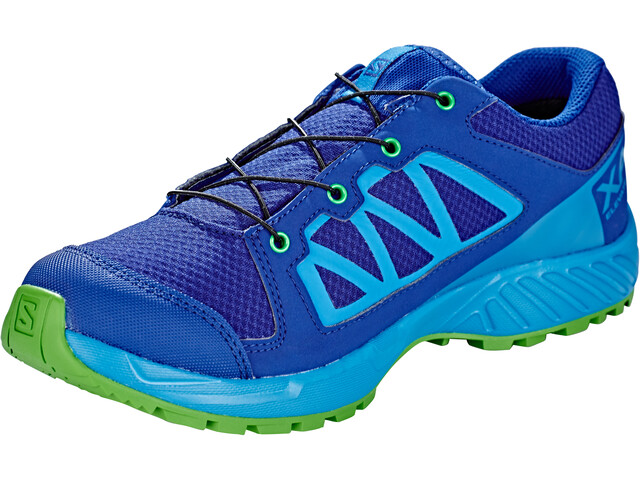 hot sale online bfb44 13859 Salomon XA Elevate CSWP Shoes Kinder mazarine blue wil/indigo  bunting/onlime lime